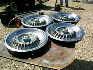1966 Chrysler Imperial 14 Inch Hub Caps Set Of 4 5 20