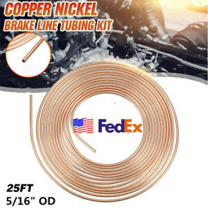 Steel Zinc Copper Nickel Brake Line Tubing Kit 5 16 Od 25 Ft Coil Roll Usa