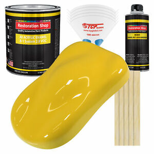 Restoration Shop Daytona Yellow Acrylic Enamel Gallon Kit Auto Paint