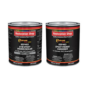 Gray Epoxy Primer sealer 2 1 Voc half Gallon Kit Anti corrosive Dtm Primer