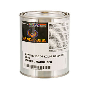 1 2 Pint Clear Marblizer House Of Kolor Shimrin Artistic Basecoat Paint Mb00