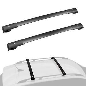 Set 2 Cross Bar Roof Rack Carrier Fits 14 19 Subaru Forester Crosstrek Impreza