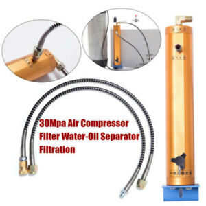 30mpa 4500psi High Pressure Pcp Air Compressor Oil Water Separator 8mm Filter