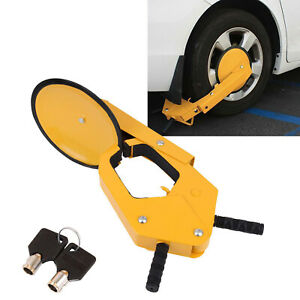 Parking Boot Car Tire Claw Atv Rv Wheel Clamp Boat Truck Trailer Lock Anti Thef