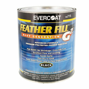 Evercoat Feather Fill G2 Black Polyester Primer Surface Surfacer auto Paint