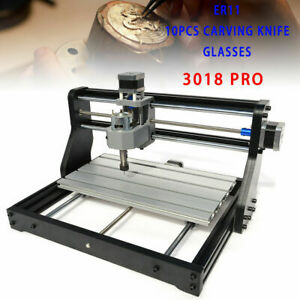Metal Cnc 3018 Router Engraving Machine Pcb Wood Diy Milling Laser Module Er11