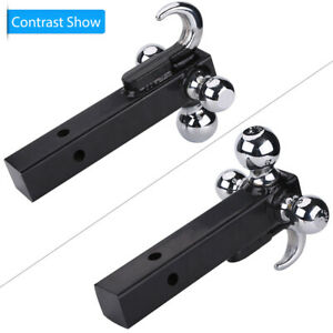 1 7 8 2 2 5 16 Triple Ball Trailer Hitch Receiver Mount Towing Added Tow Hook