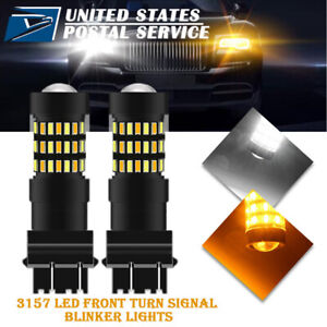 White Amber Switchback Turn Signal Led Bulbs Plug Play For 2007 2013 Gmc Sierra