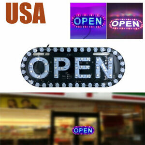 Bright Led Neon Light Open Business Sign Board Signboards For Shop Banner L020