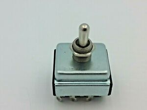 Toggle Switch 2 Position Maintained 10a 250vac 15a Vac 3 4 Hp 250vac 9 Pins Nnb