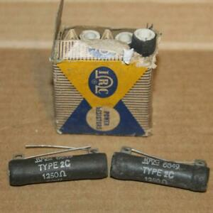 Lot Of 5 Vintage Irc Resistors 6849 Type 2c 1250 Ohms New In Package And Loose