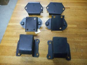 1971 1972 1973 Ford Mustang Cougar 429 460 6 Peice Motor Mount Kit