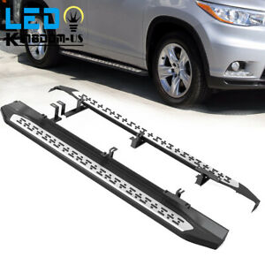 Running Board For 2014 2018 Toyota Highlander Aluminum Nerf Bars Side Step Lh rh