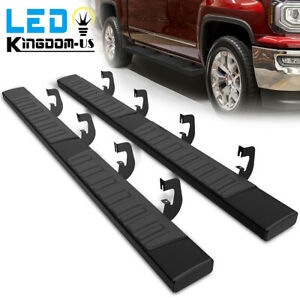 Running Board For 07 18 Chevy Silverado 1500 Crew Cab 6 Nerf Bars Side Step 2pc
