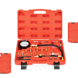 0 140psi Oil Fuel Injector Injection Pump Pressure Tester Gauge Car Tools W Case