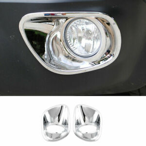 Fit For Jeep Patriot 2010 2015 Abs Chrome Front Bumper Fog Light Lamp Cover Trim