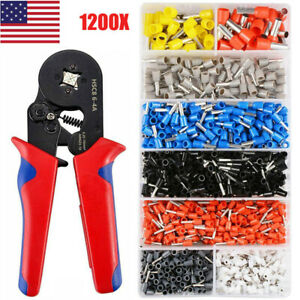 1200pcs Electric Wire Cable Wiring Crimp Terminals Connector crimping Tools Kit