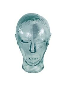 Clear Heavy Glass Mannequin Head 10 Display Hats Wigs Headphones