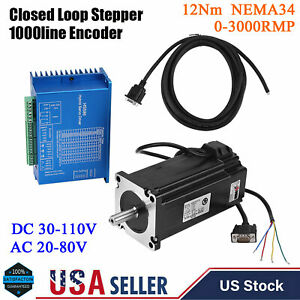 Hss86 Hybrid Servo Driver nema34 Closed loop Stepper Servo Motor 12nm 0 3000rpm