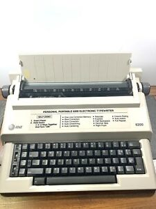 At t Electric Typewriter 6200 Vintage off white W 2 New Ribbons Tested