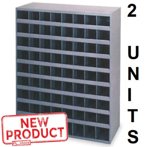 72 Hole Storage Bolt Bin Metal Cabinet Compartment Nuts Bolts Fasteners Screws