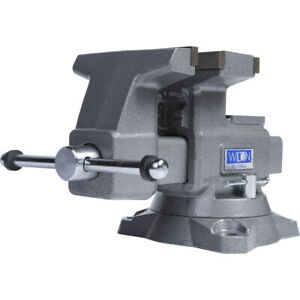 Wilton Tools 28822 6 1 2 Inch Wide Jaw Swivel Base Reversible Work Bench Vise