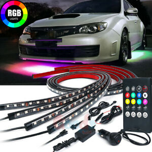 Much Retro Rgb Led Strip Under Car Underglow Dancing Lights W Remote Control