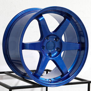 Vordoven Forme 10 18x9 5 5x114 3 30 Candy Blue Wheels 4 73 1 18 Inch Rims