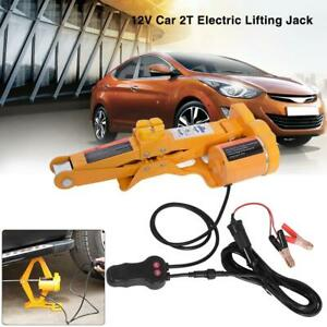 2 Ton 12v Auto Electric Jacks Lifting Tire Change Car Suv Repair Tool Kit Case