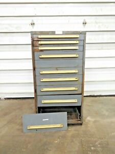 Mo 3205 Equipto 10 Drawer Industrial Tool Cabinet