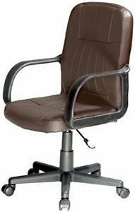 Comfort Products Mid back Leather Office Chair Brown
