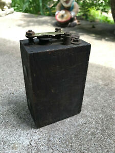Antique Ford Model T Wooden Buzz Box Ignition Coil Ford Logo On Box Parts Lot B
