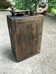 Antique Ford Model T Wooden Buzz Box Ignition Coil Ford Logo On Box Parts Lot C