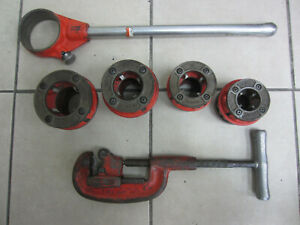 Ridgid 12 r Die Set Ratcheting Pipe Threader 1 1 1 4 1 1 2 2 No 2a Cutter