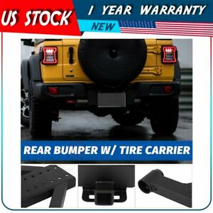 For 07 18 Jeep Wrangler Jk Assembly Textured Rear Bumper Tire Carrier Steel