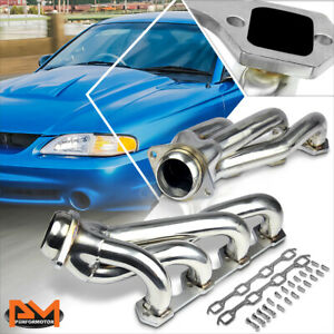 For 94 95 Ford Mustang 5 0 V8 Stainless Steel Shorty 4 1 Exhaust Header Manifold