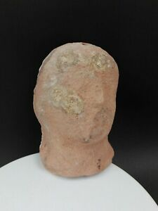 Ancient Greek Antique Figure Beauty Face Terracotta Pottery Old Handmade Genuine