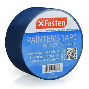Xfasten Blue Painters Tape 2 5 inch By 60 yards