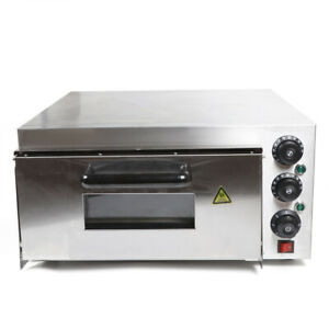 110v Used Sliver Electric Pizza Ovens Single Layer 1 deck 2000w Stainless Steel