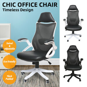 Ergonomic High Back Office Chair Executive Adjustable Computer Desk Pu Mesh W b