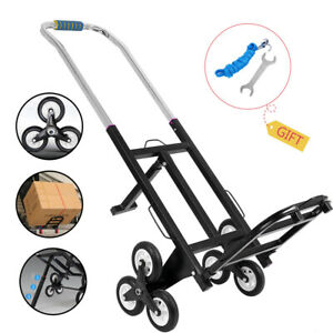 Durable Foldable Dolly Hand Truck Push Trolley Luggage Shopping Climbing Cart