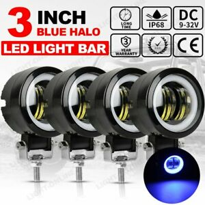 4pcs 3 inch Led Work Light 80w Cube Pod Spot Suv Lamp Offroad Atv For Jeep 4wd