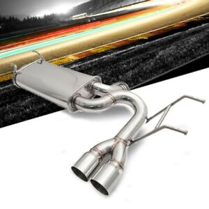 Megan Racing V2 Axle Back Exhaust System Dual Tips For 15 20 Mazda Mx5 Miata Nd