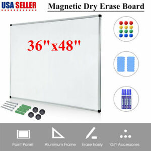 48 X 36 Magnetic Dry Erase Board marker Whiteboard School Office W accessories