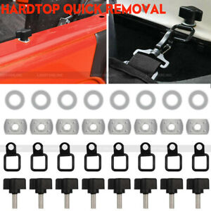 For Jeep Wrangler Hardtop Quick Removal Tie Down D Rings Anchors For Jk Yj Tj
