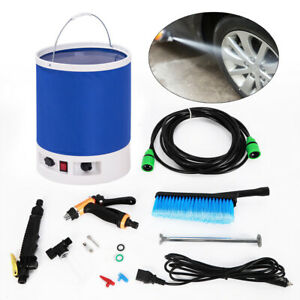 12v Portable Car High Pressure Washer Water Pump Jet Clean Sprayer Us New