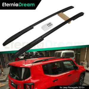 Us Stock Roof Rails Fit For Jeep Renegade 2015 2021 Black Baggage Rack Carrier