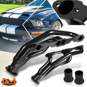 For 88 97 Chevy gmc 5 0 5 7 V8 Mild Steel Black Coated Exhaust Header Manifold