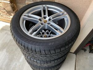 Silver Porsche Macan 19 Inch Wheels Tires Gently Used