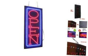 Vertical Open Sign 19 Topking Signage Led Neon Open Store Window Shop Bus
